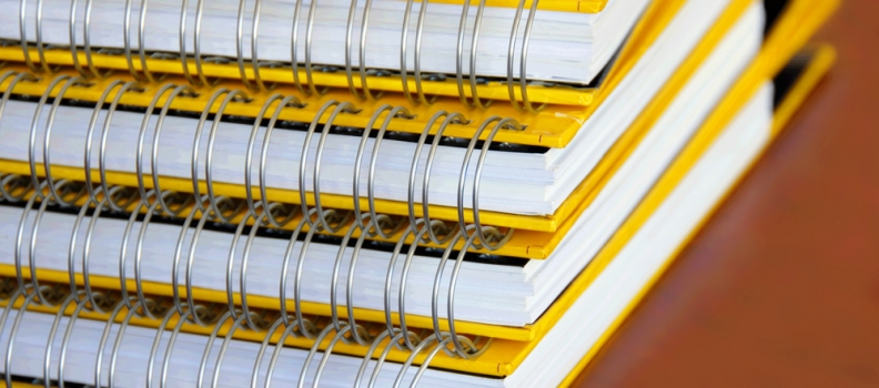 Details on Printed Booklets and Binding Formats