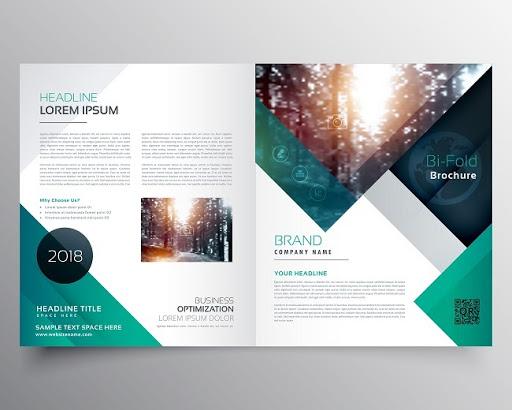 bifold brochure or magazine cover design
