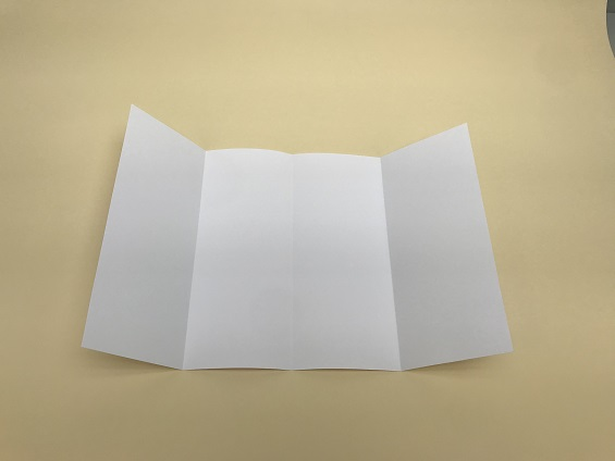 demonstration of a roll fold brochure style